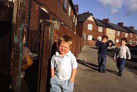 little boy in poverty