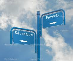 poverty education sign